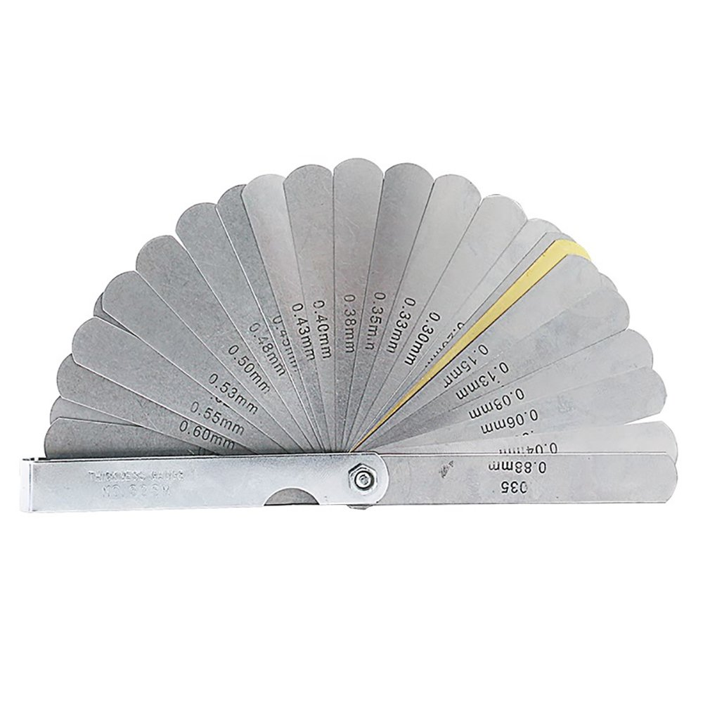 32PCS Blades Thickness Gage Set Metric Guage Stainless Steel Feeler Gauges High Accuracy Gap Measuring Tool