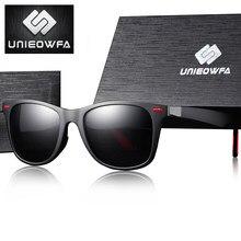UNIEOWFA-gafas de sol cuadradas graduadas para hombre y mujer, lentes de sol cuadradas para miopía, lentes de sol polarizadas graduadas para dama y hombre