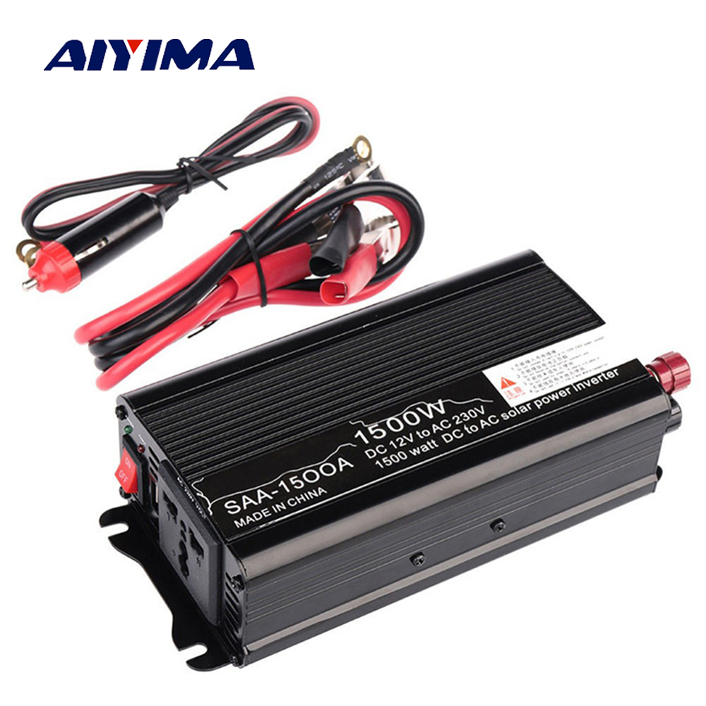 Aiyima Car 1500W Solar Power Inverter board 12V DC To 110V AC Modified Sine Wave Inverter ConverterAiyima Car 1500W Solar Power Inverter board 12V DC To 110V AC Modified Sine Wave Inverter Converter
