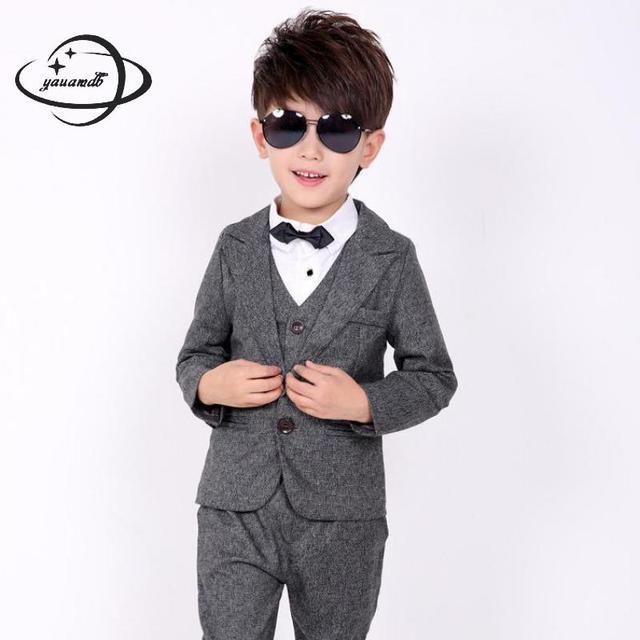7486ffb0f YAUAMDB kid blazers 2017 spring boys 3 13Y suits cotton children ...