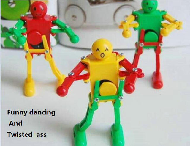 Clockwork Robot Dance Twisted Ass Funny Robot Cute Childrens Early Educational Toys On
