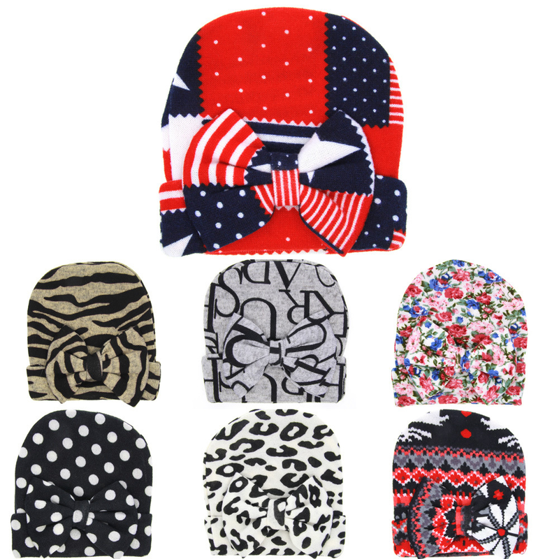 Hot Sale Knitted Childrens Cap Printed Baby Hat 7 color Kids Boys Girls Beanies Infant Toddler Hats