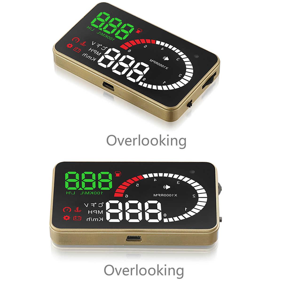 X6 3 5 дюймов Автомобильный Hud OBD2 дисплей OBD скоростной измеритель превышения