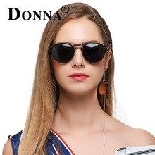 DONNA Women Polarized Sunglasses Punk Pilot Mirror Sun glasses Fashion Lady Brand Design Aviators Unique Style D110