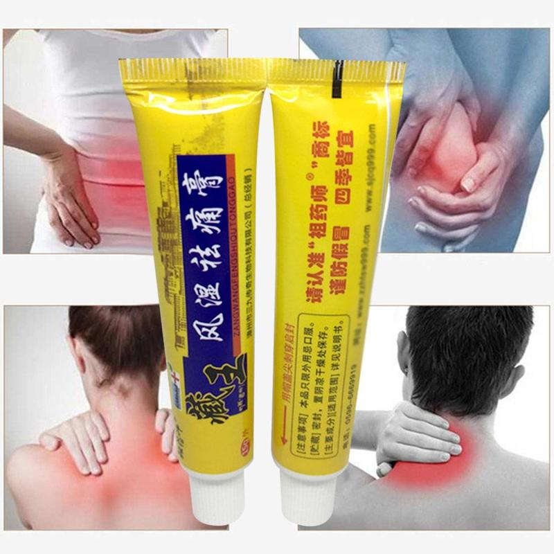 2019 Chinese Analgesic Ointment Suit For Arthritis Rheumatoid Back Knee Joint Pain Relief Cream 100% Natural Herb Balm Oil 15g