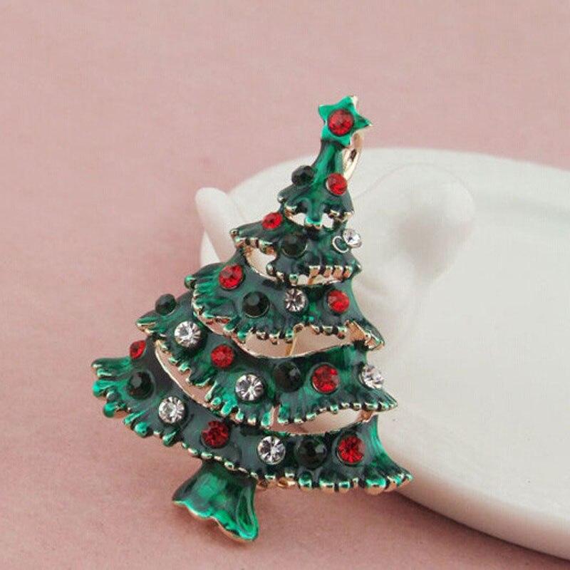 Trendy Holiday Xmas Ornaments Brooch Enamel Rhinestone ...