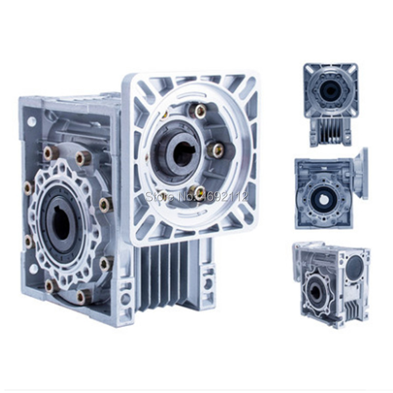 Worm Reducer NMRV050 11mm 14mm 19mm input shaft 5:1 - 100 :1 Gear Ratio RV50 Worm Gearbox 90 Degree Speed Reducer