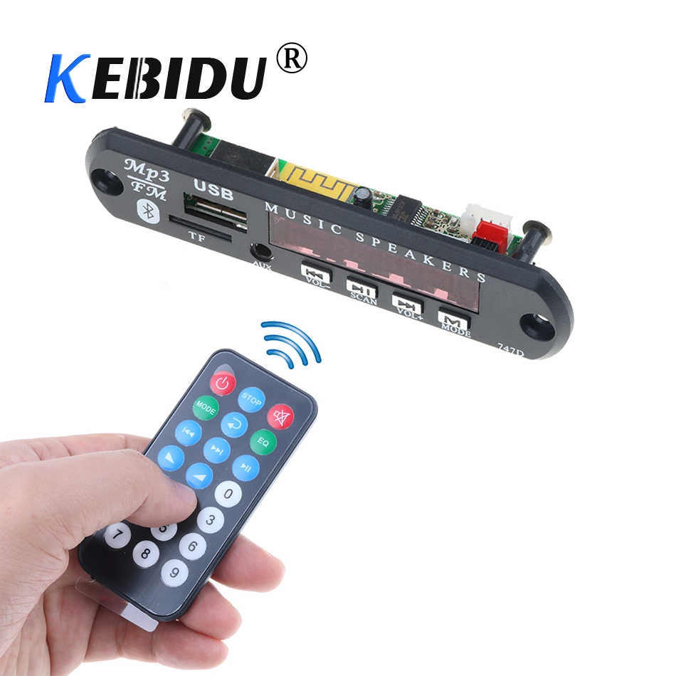 Kebidu Senza Fili di Bluetooth USB MP3 Auto FM Radio MP3 AUX Scheda di Decodifica Audio Modulo DC 5V 12V Per accessori Per auto Per Il Telefono