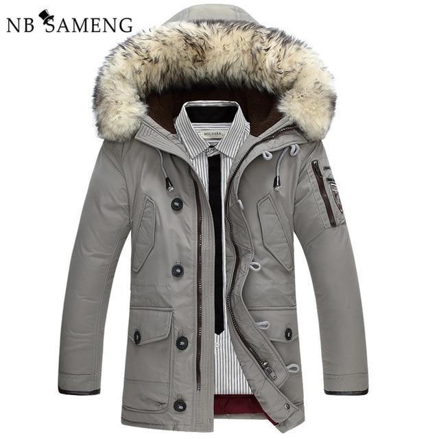 Inverno Quente Com Capuz Jaquetas Casuais Longo Pato Branco Dos Homens Para Baixo Down Coats & Jackets Outwear Engrossar Sólida Casuais Parkas Mais tamanho