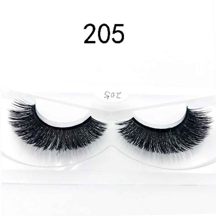 3D Mink hair false eyelashes natural long thick messy eye lashes cilios faux cils maquillaje profesional fake eyelash 1set 1pair in False Eyelashes from Beauty Health