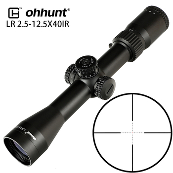 ohhunt LR 2.5-12.5X40 IR Riflescope Mil Dot Red Glass Etched Reticle Tactical Optical Sights Turret Reset Lock for Rifle Scope