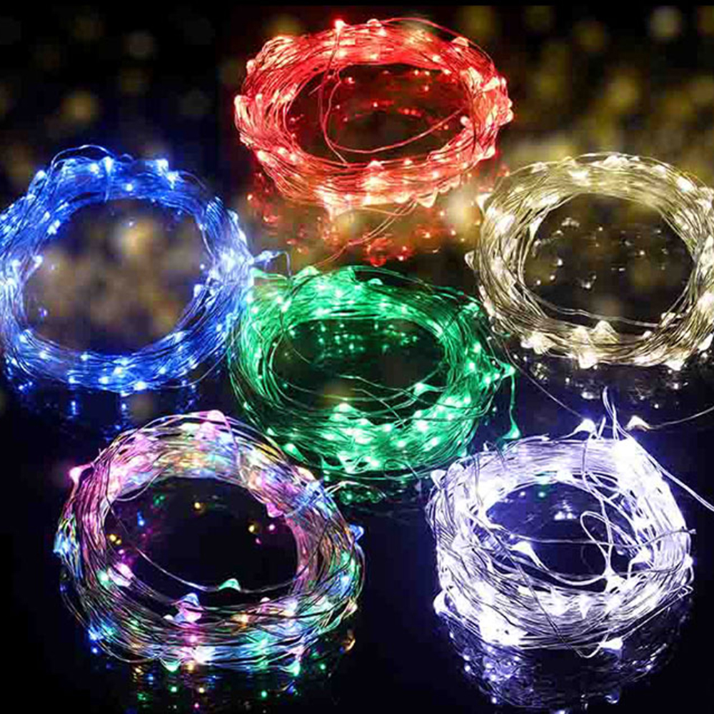 10M 5M 2M Outdoor Waterproof Led String Lights USB/ Battery Box Christmas Festival Wedding Party Garland Decoration