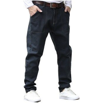 2018 Brand Men Jeans Pants Loose Large Size Denim Blue For Men High Quality Jeans Denim Male