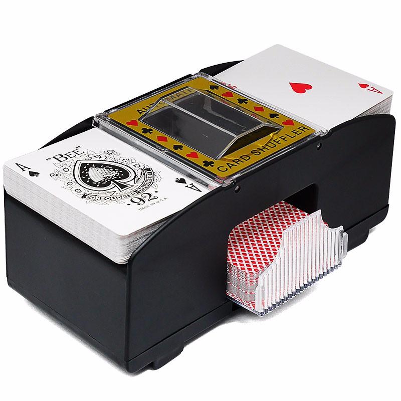 Prix pour Automatique mélangeur De Cartes De Poker Batterie Exploité Casino Jeu Brassage Machine Avancée Casino Robot (2 Pont)