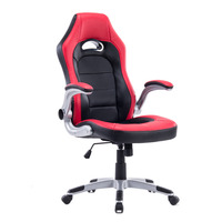 DJ Wang Soft PU Leather Executive Racing Office High Back Computer Swivel Chair Office Manager Chair