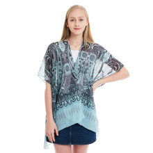 Scarf Sunscreen Print 74cm Length Womens Fashion Chiffon Simple Shawl Female Summer Multi-purpose Clothing & Accessories