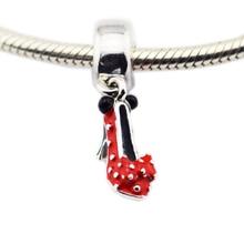 ФОТО authentic s925 sterling silver jewelry minie shoe charm jewelry pendant for women fits diy bracelet pendant