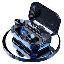 G02 TWS 5.0 Bluetooth 9D Stereo Earphone Wireless Earphones IPX7 Waterproof 3300mAh LED Smart Power Bank Phone Holder