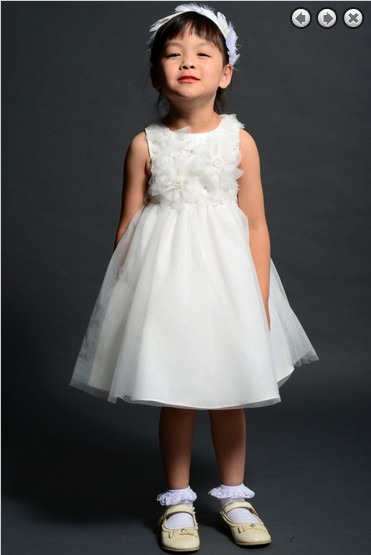 free shipping   flower     girl     dresses   for weddings 2016 party gowns communion white   dress   kids christmas pageant   dresses   for   girls