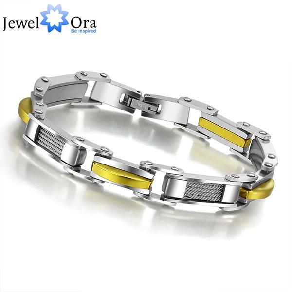 мода человека свободного покроя голограмма браслеты и браслеты панк из нержавеющей стали серебряные золотые мужские браслет для мужчин