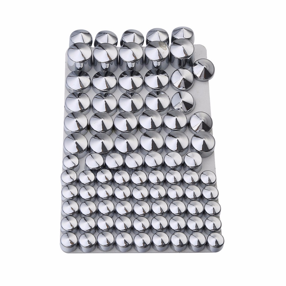 83 pcs/set Chrome ABS Bolt Toppers Kit For Harley Twin Cam Road King FLH Model 1994-2006 95 05