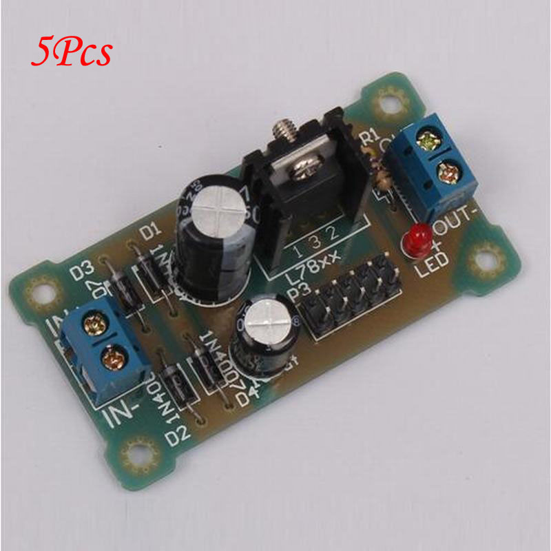 5Pcs New L7806 LM7806 DIY Kit Step Down 8V-35V to 6V Buck Converter Power Supply Electronic Kit woodwork a step by step photographic guide to successful woodworking