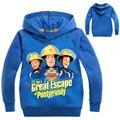 Толстовки для мальчиков от 3 до 14 лет 2018 пожарная одежда Сэм для девочек с капюшоном весенняя куртка с длинными рукавами с рисунком Повседне...
