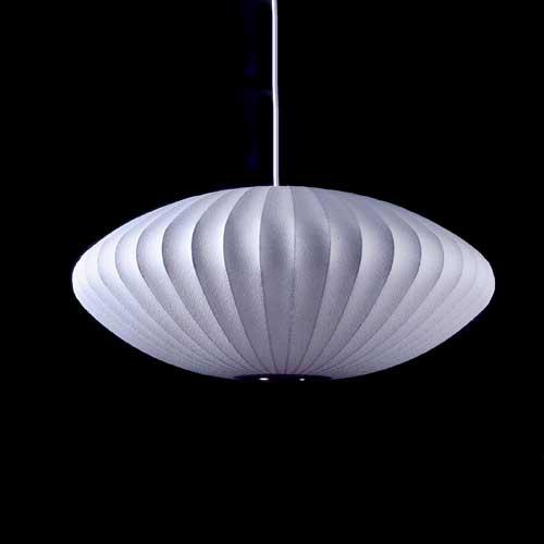 Livraison gratuite bulle soucoupe suspension lampe en soie
