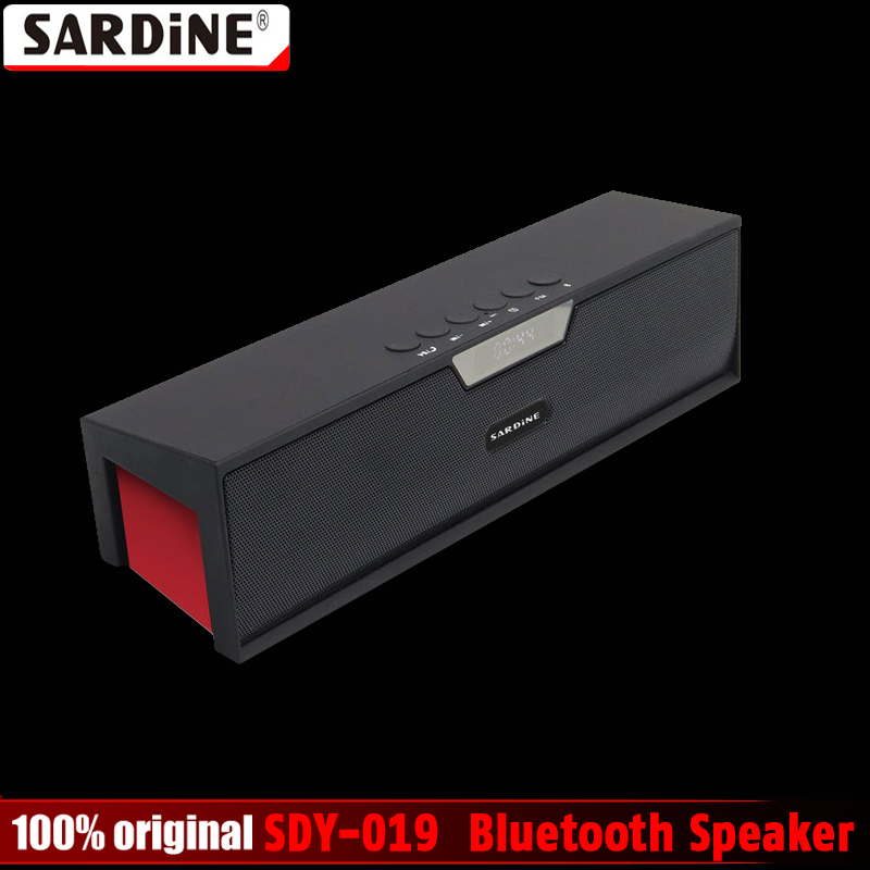 100% Original Sardine SDY-019 Altavoz Bluetooth Speaker Wireless HIFI Portable Subwoofer Speakers Music Sound Box with FM Radio sardine b1 portable led display wireless bluetooth hands free stereo speaker subwoofer sound box music player with mic fm radio