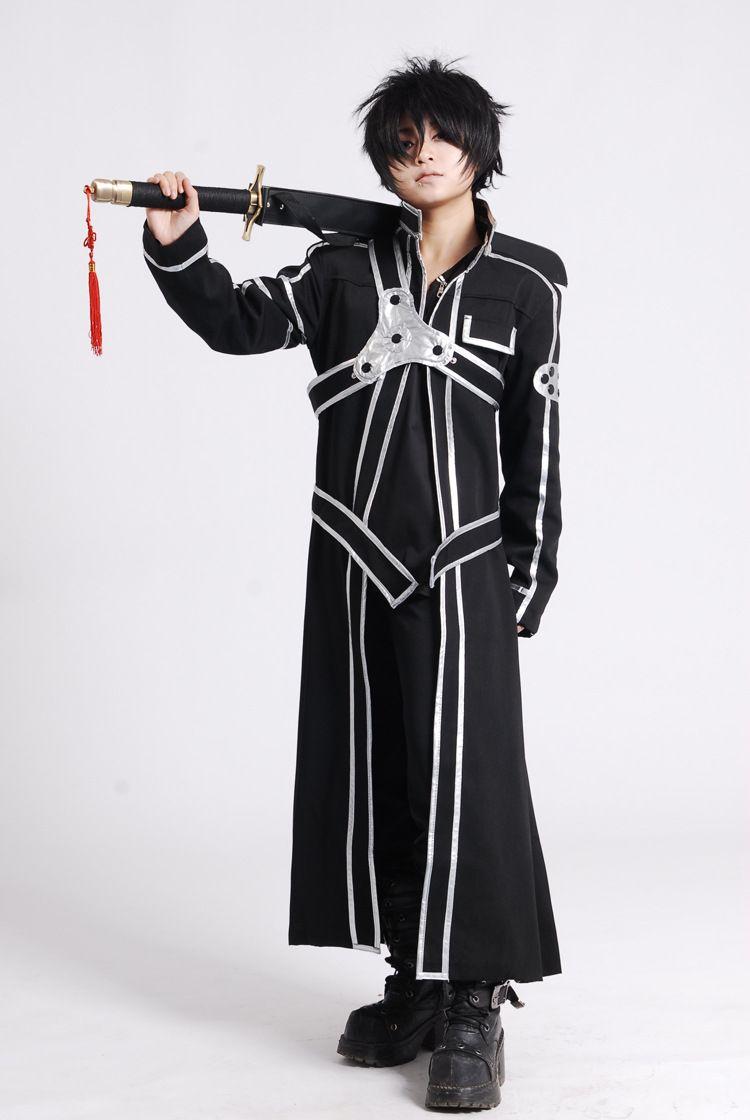 Sword Art Online Kirito Cosplay Costumes Black Full Set