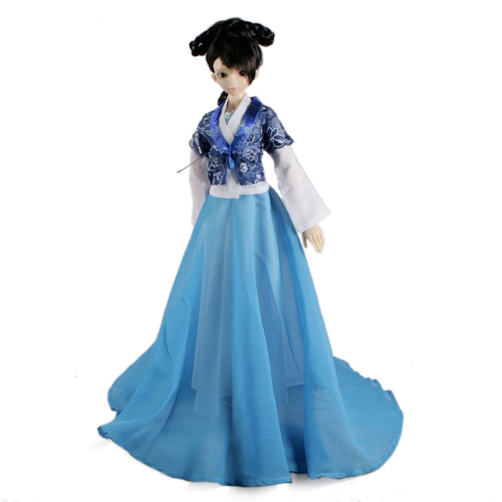 цены [wamami]699# Blue Classical Chinese Ancient Dress For 1/3 SD AOD DOD BJD Dollfie
