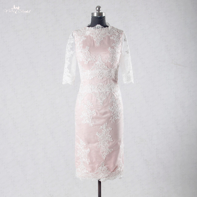 RSE713 Woman White Lace Dress Blush Prom Dress Short Tight ...