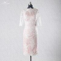 Rse713 Женская обувь, белый цвет Кружево платье Румяна платье для выпускного вечера короткие обтягивающие Бальные платья