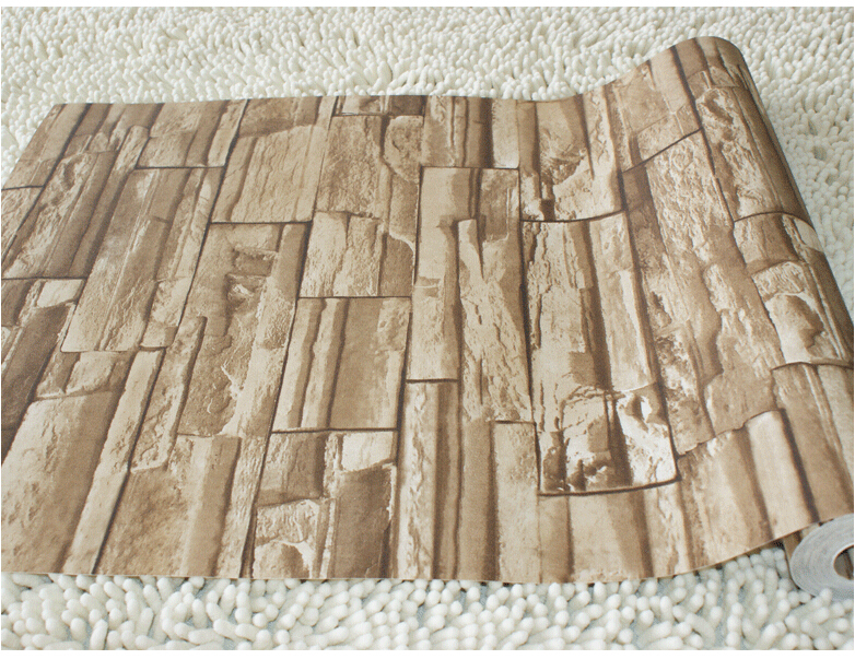 3d dining room stone brick design wallcovering tv background wall