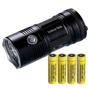 NITECORE TM06S SEARCH FLASHLIGHT CREE XML2 U3 LED 4000 LM Beam Distance 359M High Light Torch + 4x 18650 Batteries Free Shipping - DISCOUNT ITEM  0% OFF All Category