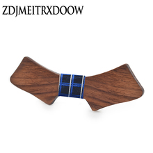 ZDJMEITRXDOOW 2017New wood wooden bow tie Neckline bow tie wedding Leisure time Suit Necessary bow tie