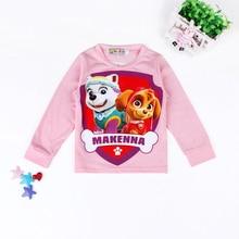 Kids T-Shirts 2016 Cartoon Animal Cotton Girls Shirt Boys Blouse Long Sleeve Tops Children Clothing Spring Autumn Baby T Shirt