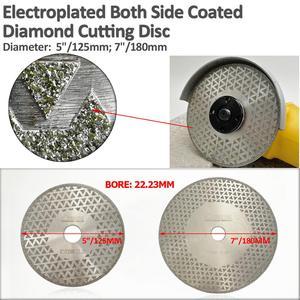 "Image 2 - SHDIATOOL 2pk 5"" Electroplated diamond cutting & grinding disc Bore 22.23 Diameter 125MM for marble granite tile ceramic"