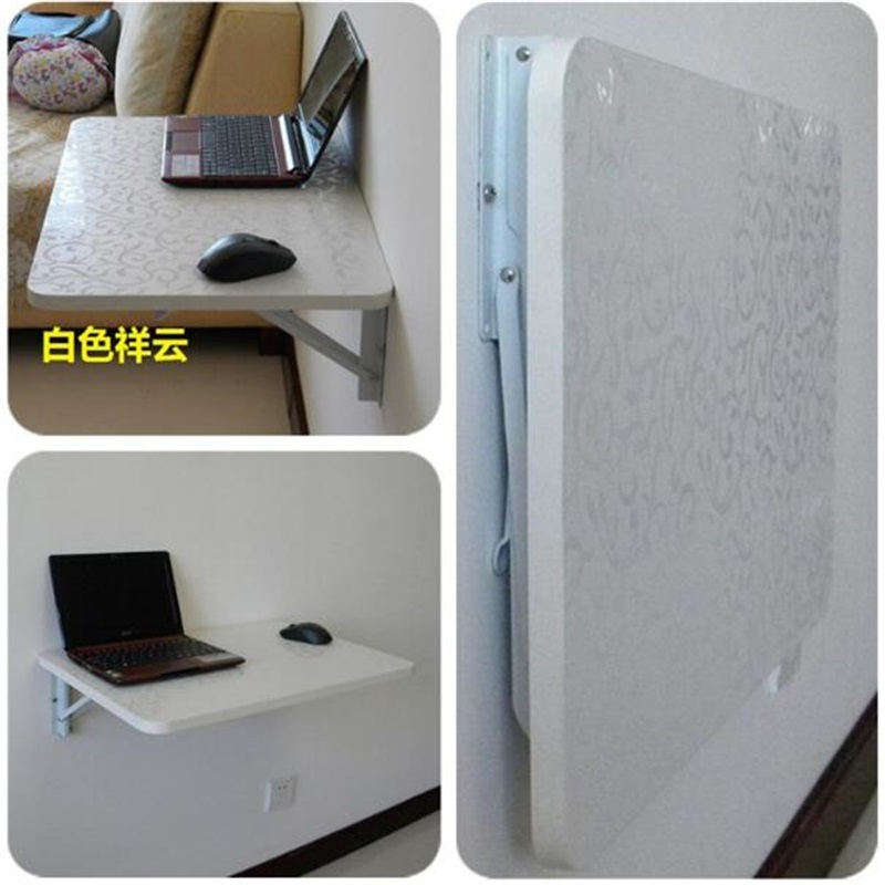 90*40CM Wall Mount Laptop Table Solid Wood Folding Table Wall Hanging Dining Table Children Study Desk