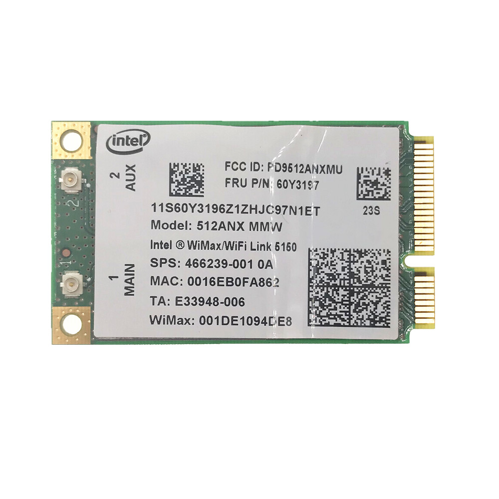 10pcs/100pcs For Intel WiMAX Wifi Link 5150 512ANX 450Mbps Wifi Card For X200 X200S T400 R400 T500 T400 X301 60Y3197