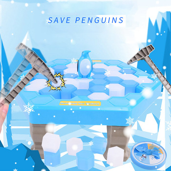 Penguin Ice Breaking Save The Penguin Toy Family children early education interactive table games beat penguin puzzle gift фото