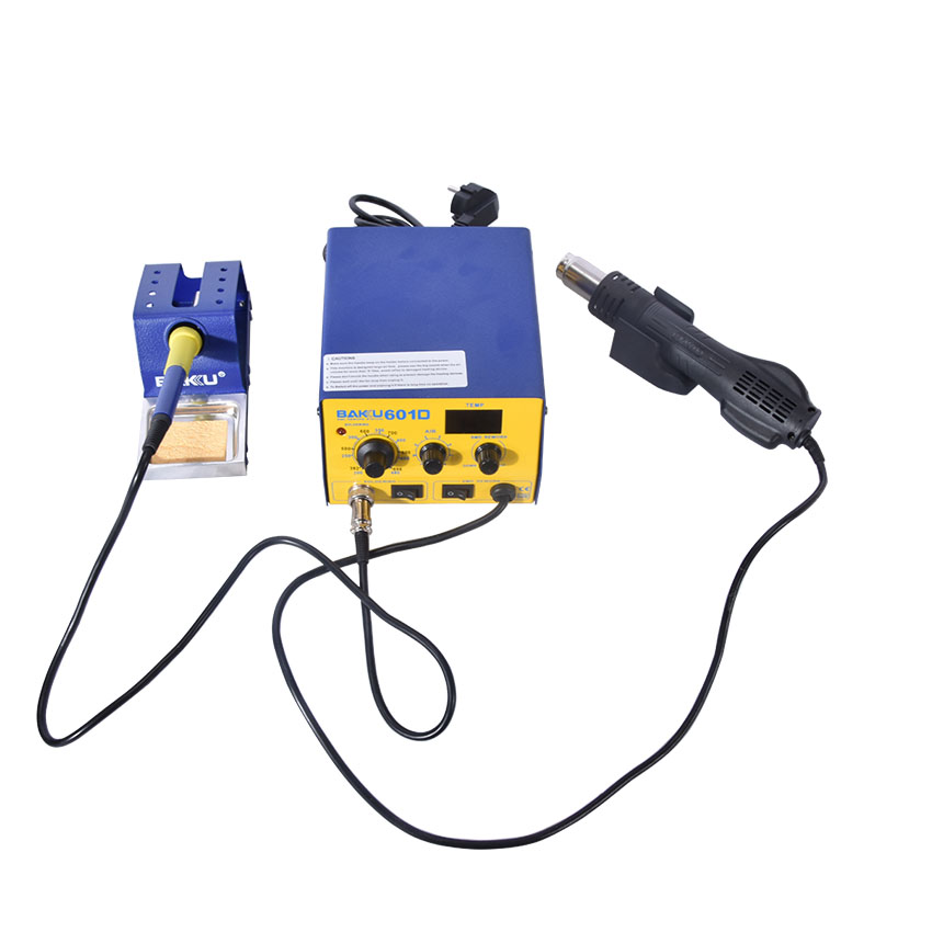 1PC 220V BAKU BK-601D LED Digital Display Hot Air SMD Rework Station hot air solder station BGA rework
