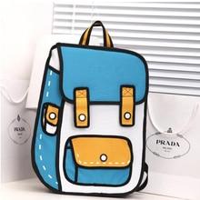 Горячие Коллекции квадратичной элемент Аниме Сумка 3D одноцветное Kawaii мультфильм рюкзак мальчики и девочек холст мода повседневная школьная сумка