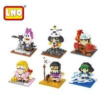 Nano blocks one piece micro action figures anime funny 3D DIY kawaii building bricks educational toys for children juguetes.