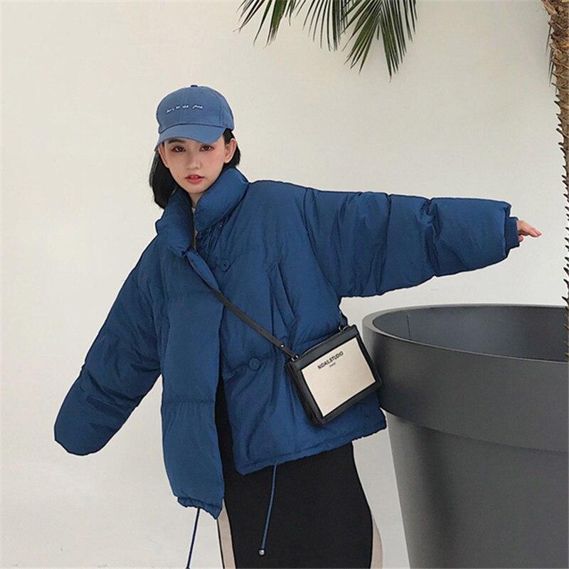 Solid Pocket 2019 New Cotton Loose Warm Long   Parka   Jacket Winter Padded Coat Women Winter Overcoat Korea Female Soft Feminino