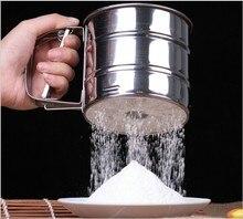 Ausgezeichnete Qualität Edelstahlgewebe Mehl Sieb Wild Verwenden Lcing Zucker Tasse Form Pulver Sichter Desserts Liefert