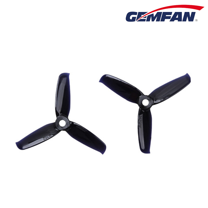 2 Pairs Gemfan Flash <font><b>3052</b></font> 3.0x5.2 PC 3-blade Propeller Prop 5mm Mounting Hole for 1306-1806 Motor RC Drone image