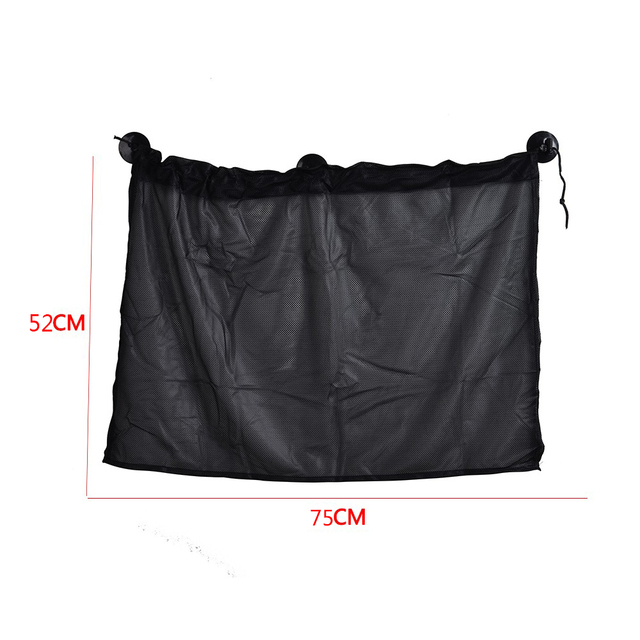 1 Pair Black Color Car Sun Shade Curtains 75*52CM Automobile Side Window Sunshade Curtain