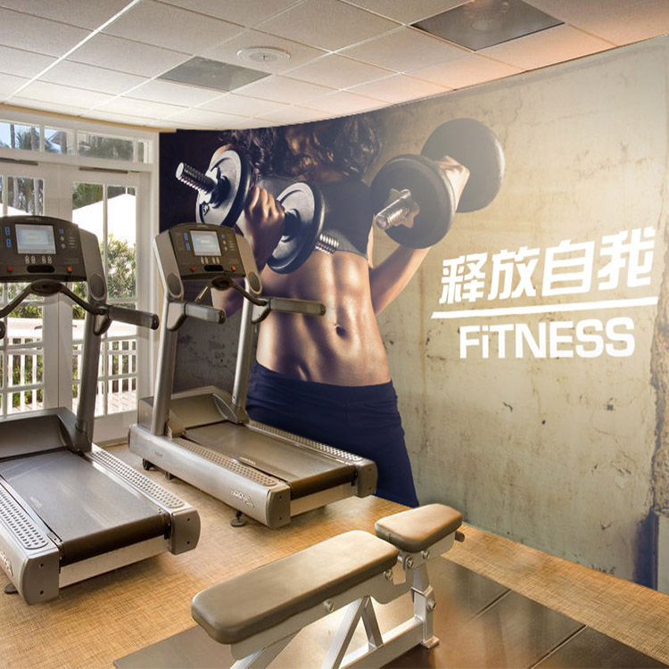 3d custom photo wallpaper 3d fashion fitness mural living Living room gym