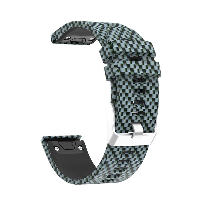 Fashion Printing Replacement Silicagel Quick Install Soft Watch Band Strap For Garmin Fenix 5 GPS Watch 220MM #0102 crested silicone watch strap for garmin fenix 5 band gps watches replacement band silicagel wrist band bracelet
